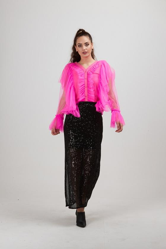 Stargazer Sequin Skirt Black