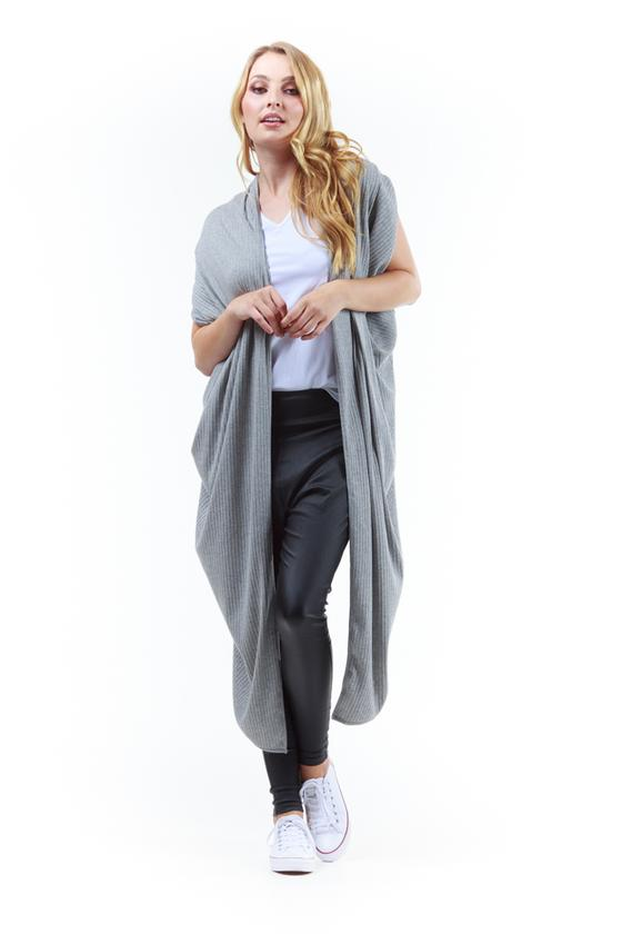 The Magic Cardi Grey Rib