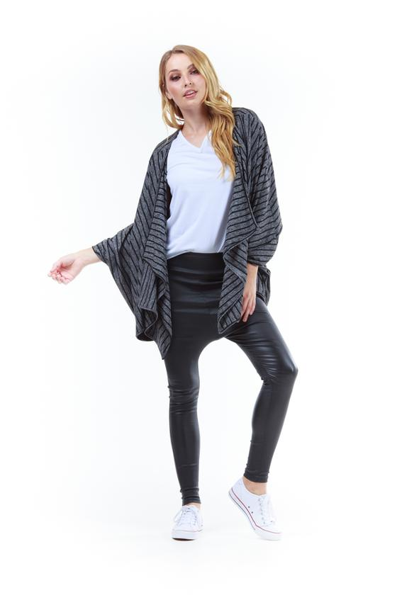 The Magic Cardi Black Stripe