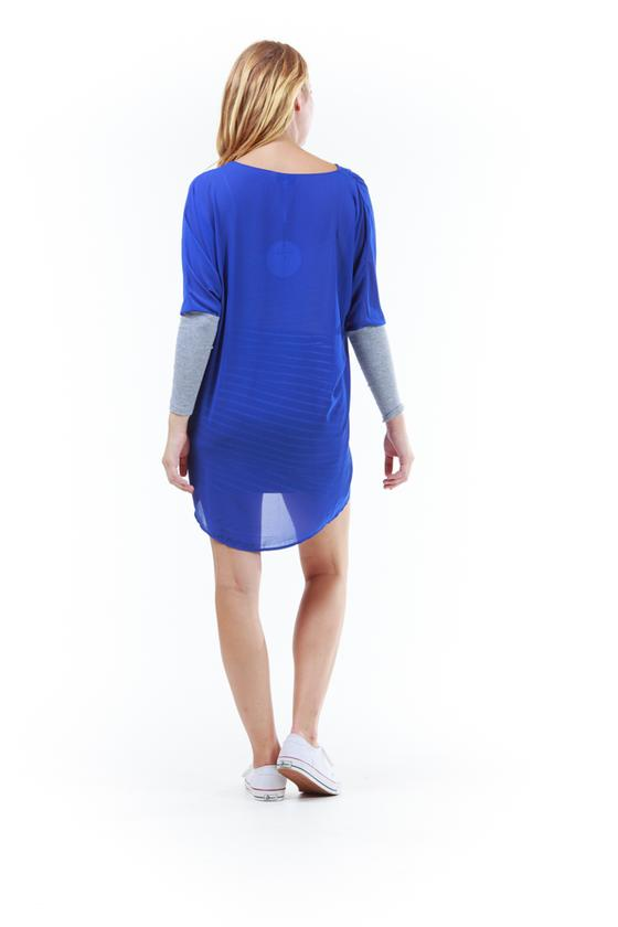 Faith Cross Over Top Royal Blue