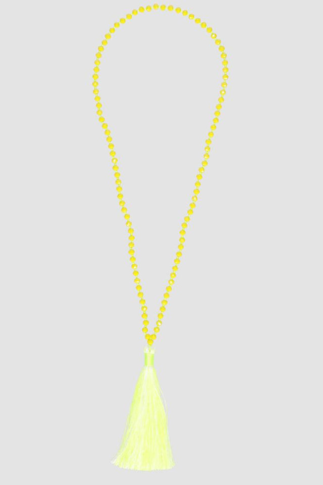 Tassel Necklace Yellow