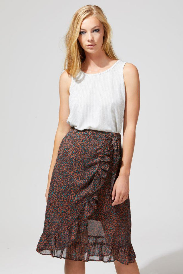 Ren Skirt Terracotta/Green Spots