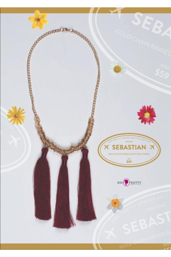 Sebastian - Rusty Red 3 Tassel