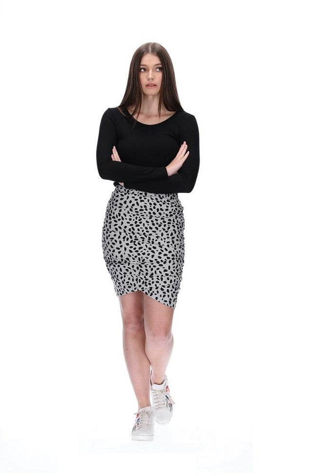 Snow Leopard Meow Skirt