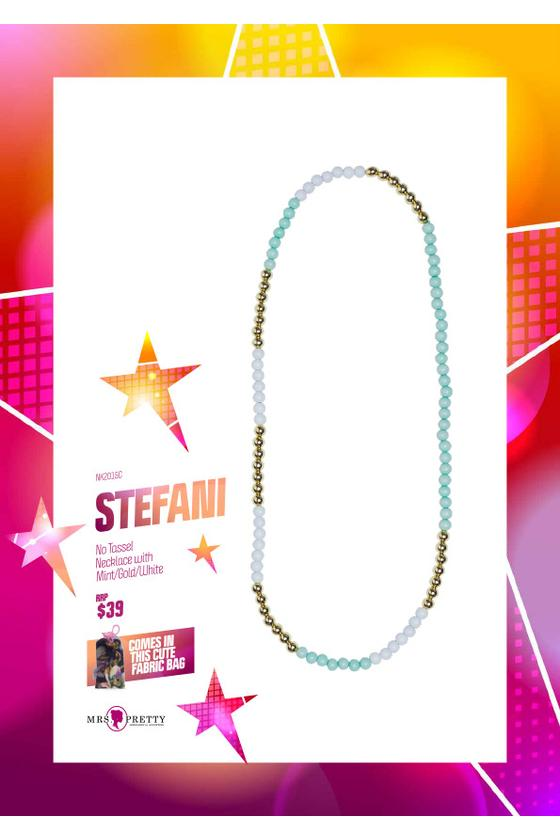 Stefani -  Mint/Gold/White