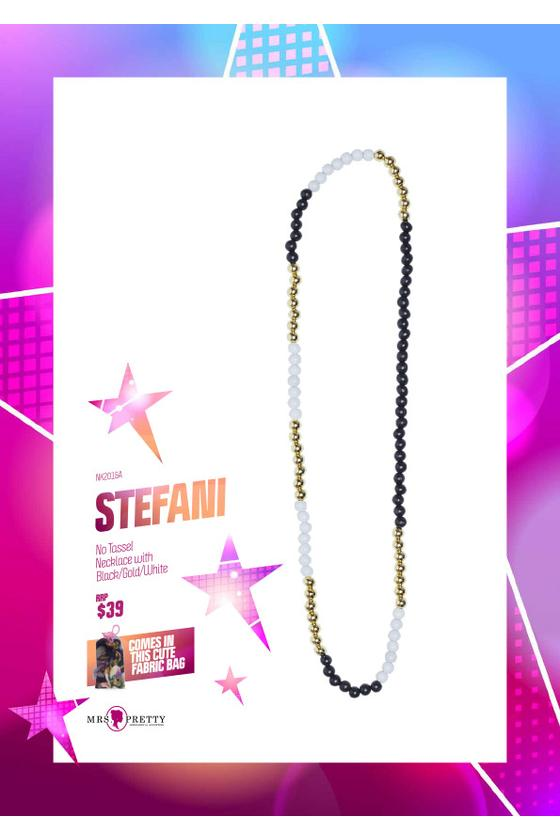 Stefani  - Black/Gold/White