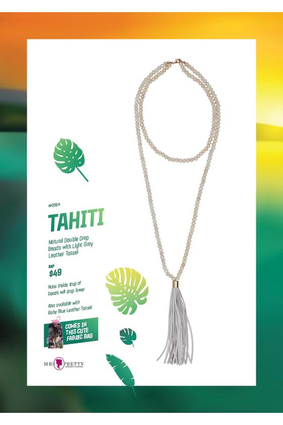 Tahiti Natural - Light GreyLeather