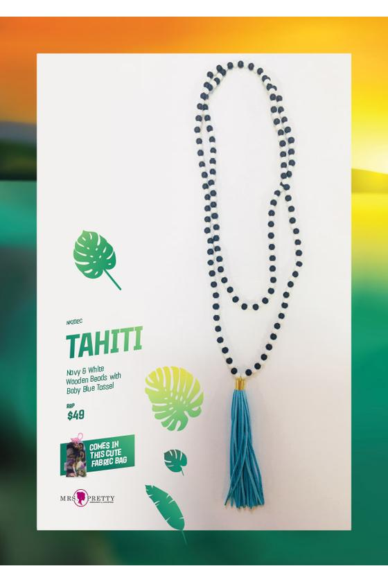 Tahiti Natural - Baby Blue Leather