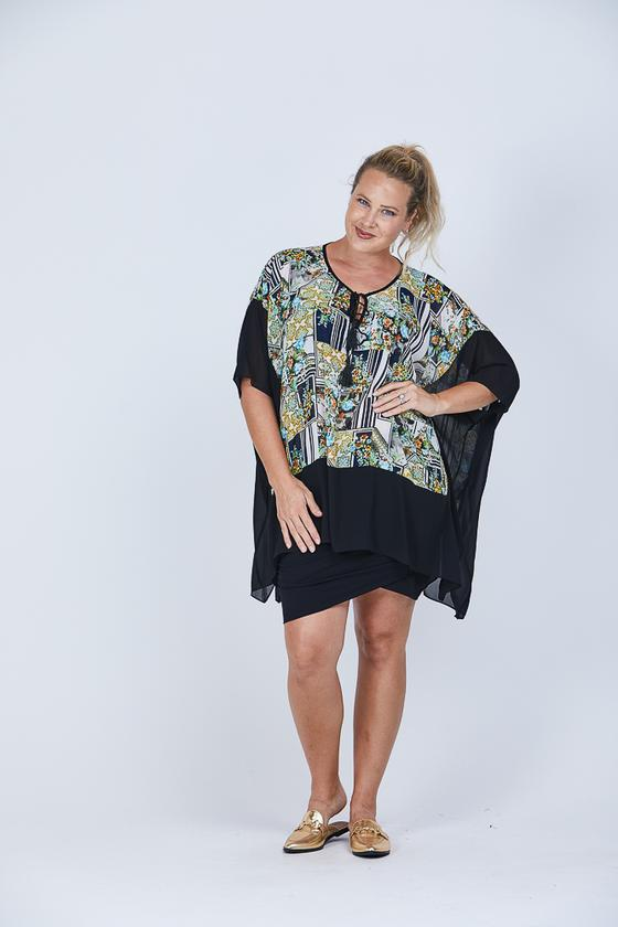 Checka kaftan top