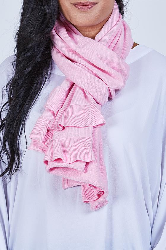 Ruffle Scarf Baby Pink