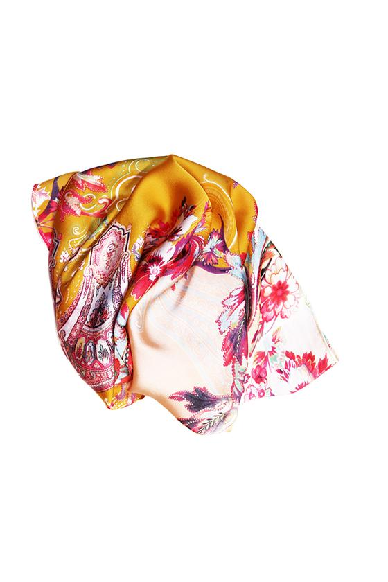 Headscarf - Mustard Paisley Floral