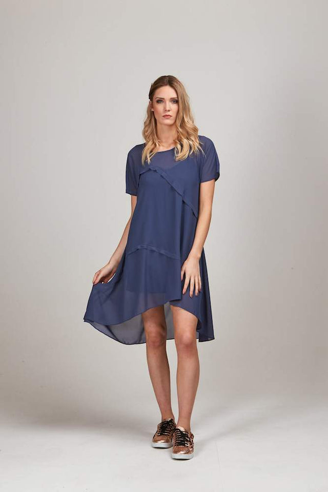 LIVY OVER TUNIC DRESS SLATE