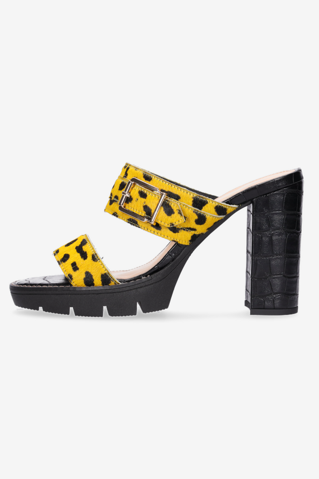 Alexis Yellow Leopard/Black