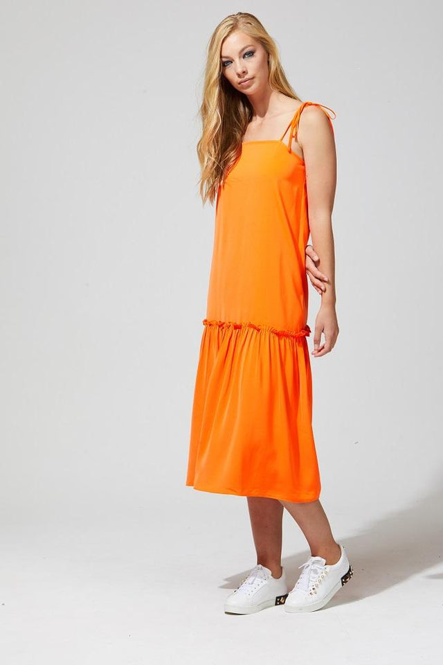 Laci Dress Bright Orange