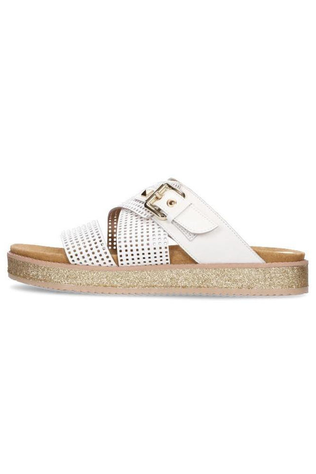Bella Sandal Plain White