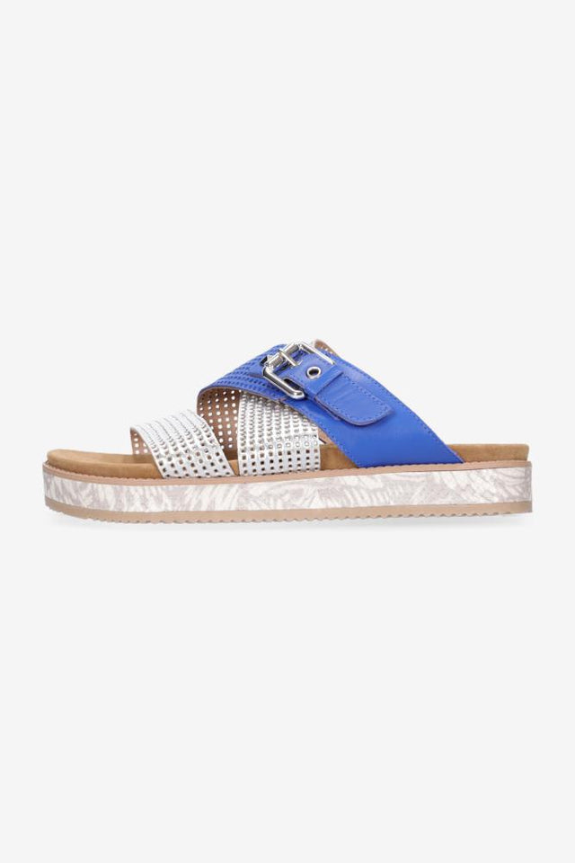 Bella Sandal Electric Blue Silver