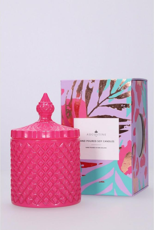 Small Pink Dragon Fruit & Zest Candle