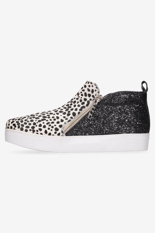 Cici Boot Snow Leopard & Black Glitter