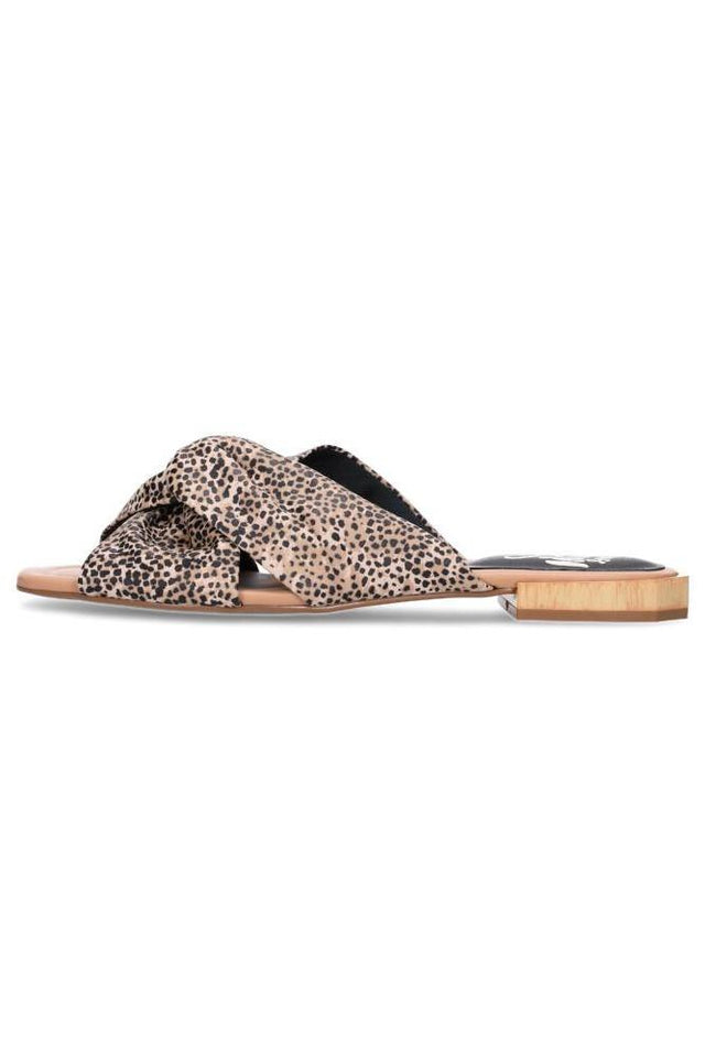 Eva Sandal Black Cheetah