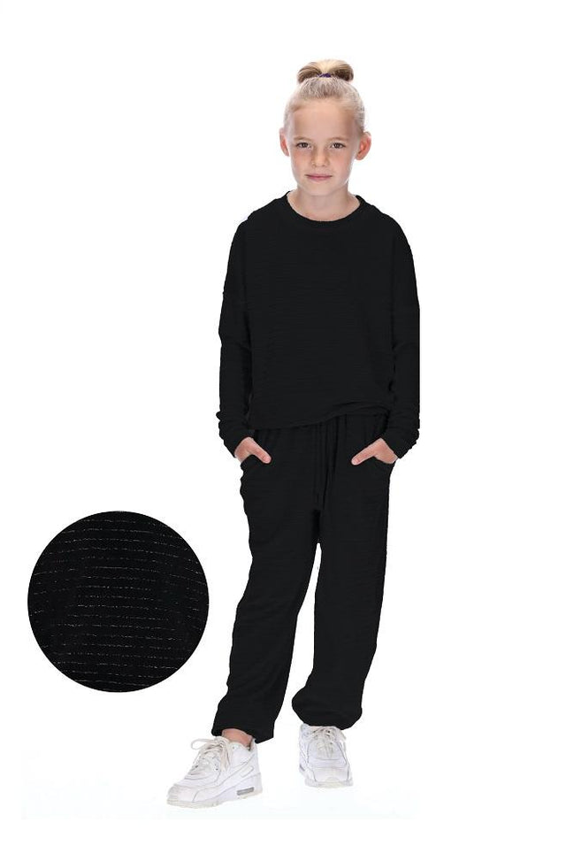 Kids Demi Tracksuit Black