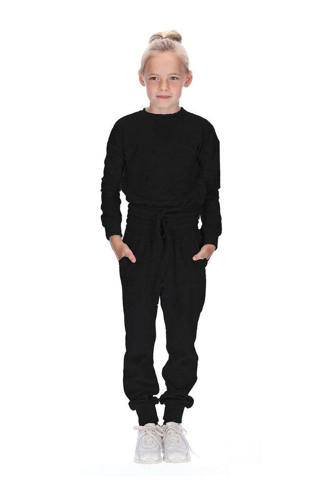 Kids Havie Tracksuit Black