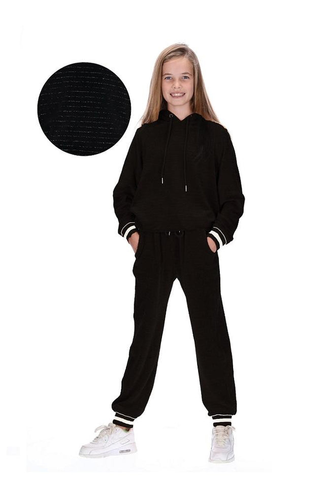 Kids Kobe Tracksuit Black