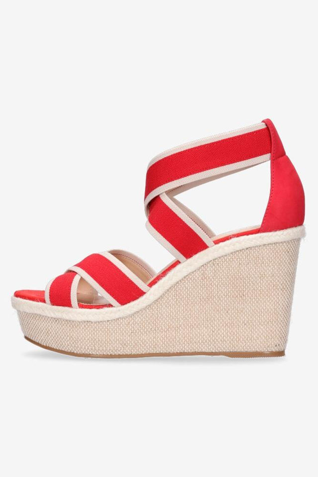Leah Wedge Red