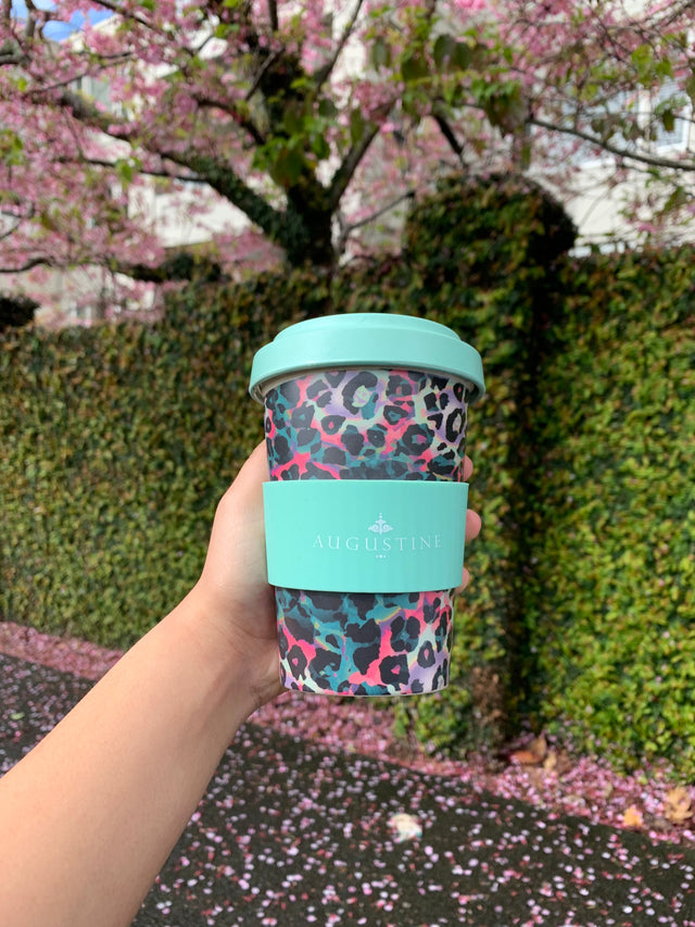Mint Leopard Coffee Cup