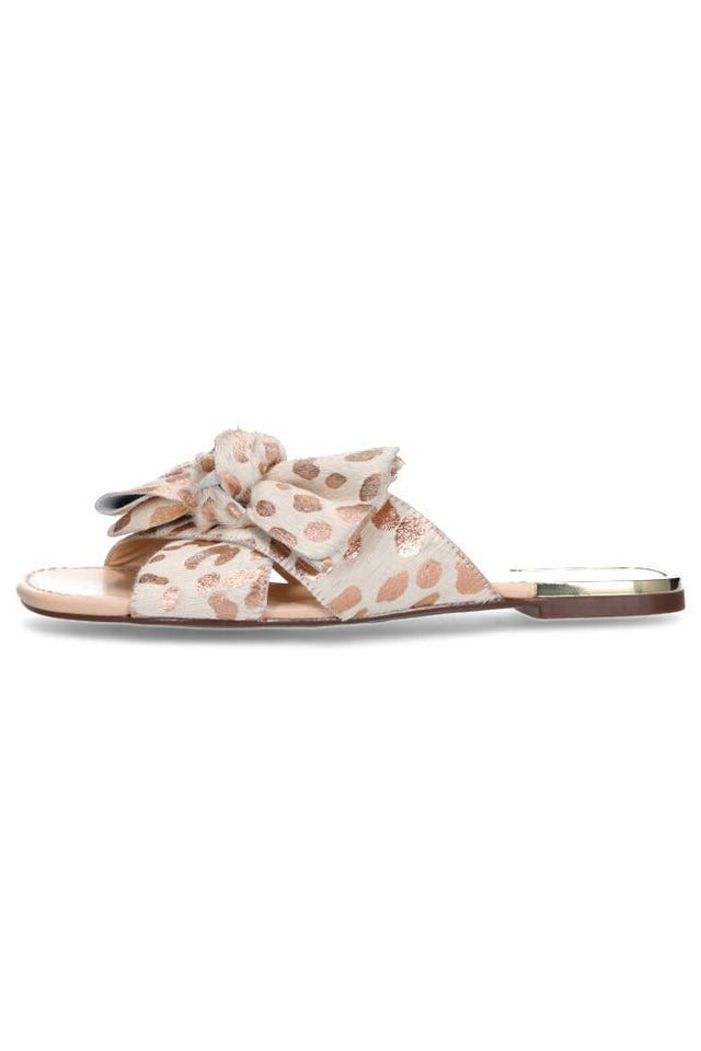Jennifer Slide Rose Gold Leopard