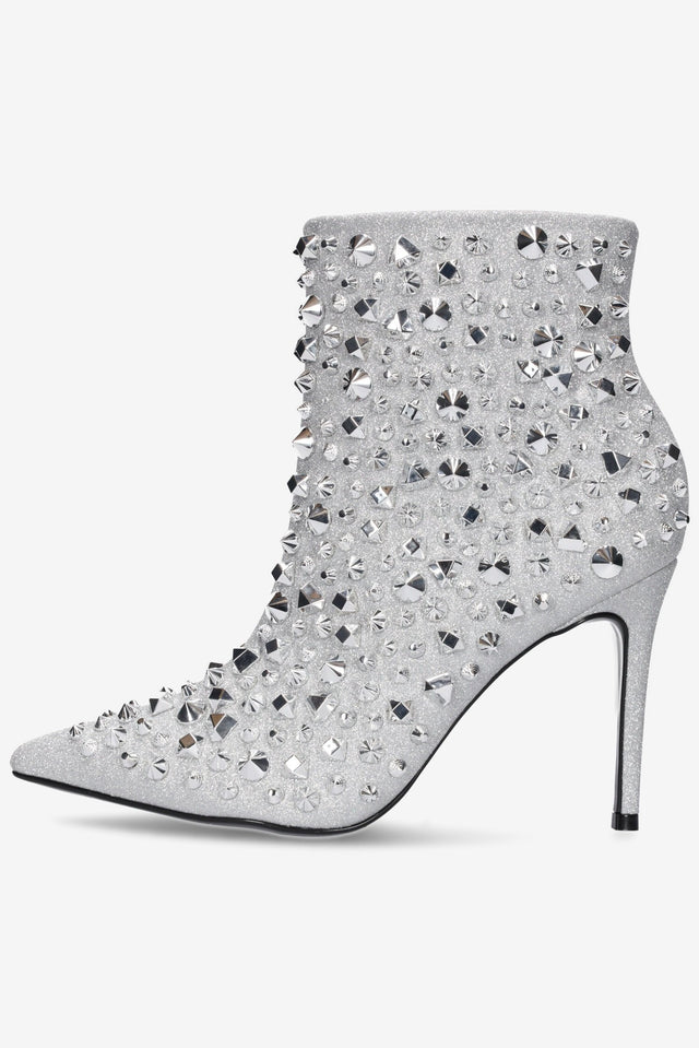 Jewel Bootie Silver