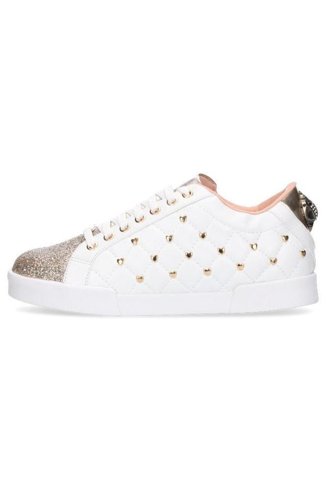 Kriss Kross Sneaker White/Gold Heart