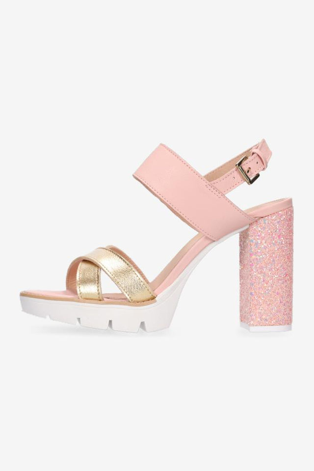 Louise Gold & Pink Heel