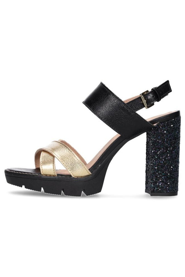Louise Gold & Black Heel