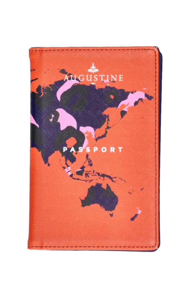 Navy Leopard Passport Cover