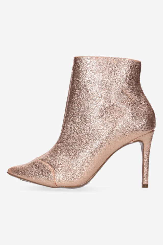 Noor Metallic Rose Gold Boot
