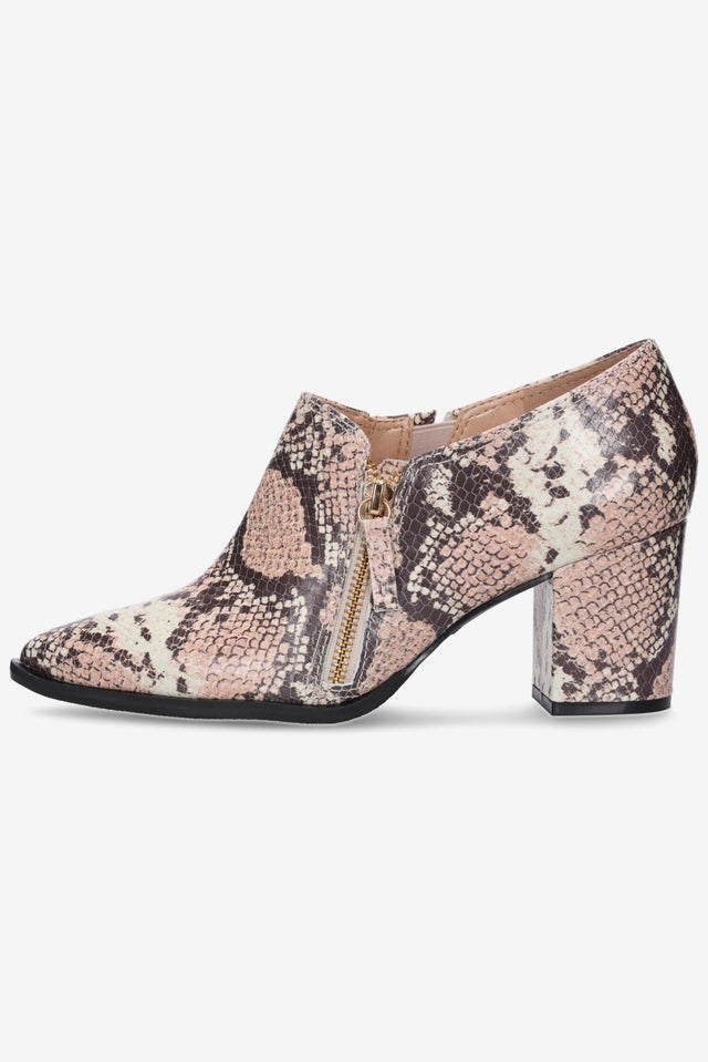 Pierre Snakeskin Ankle Boot
