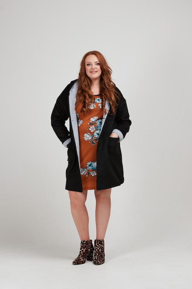 Joe Hooded Coat - Black