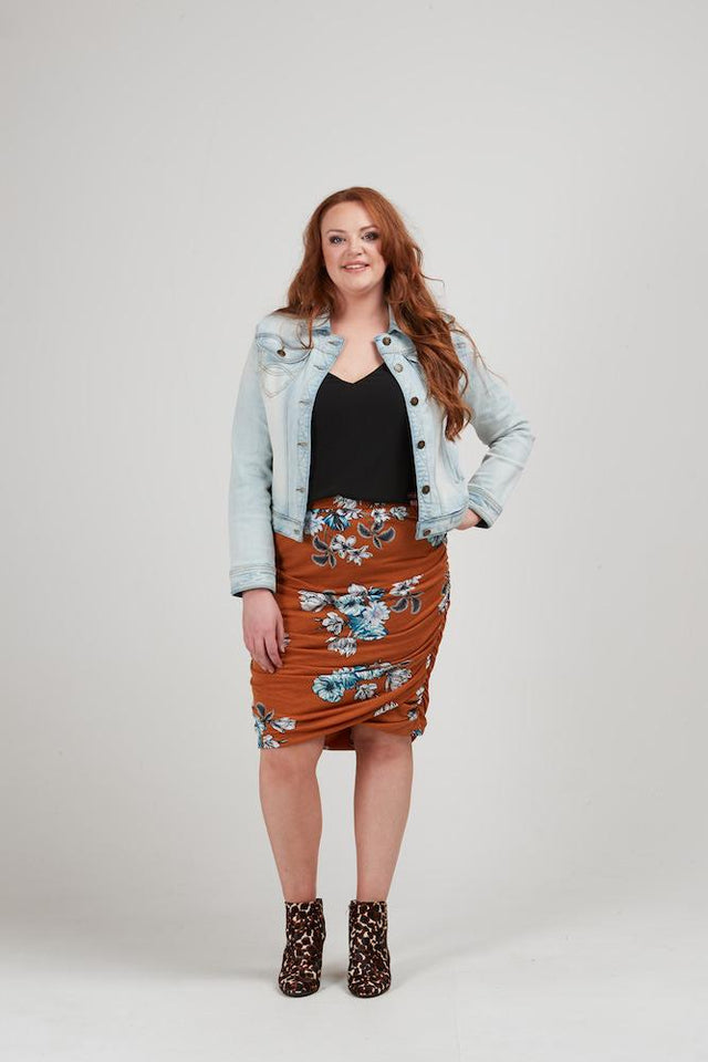 Emerson Skirt - Rust Print