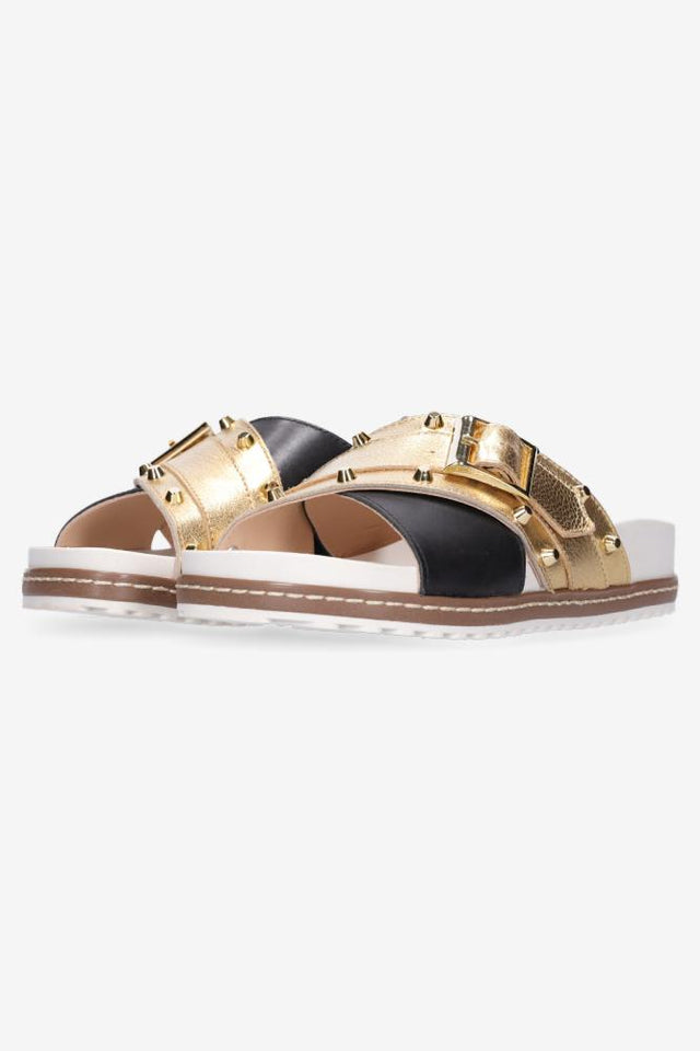 Stella Sandal Black Gold