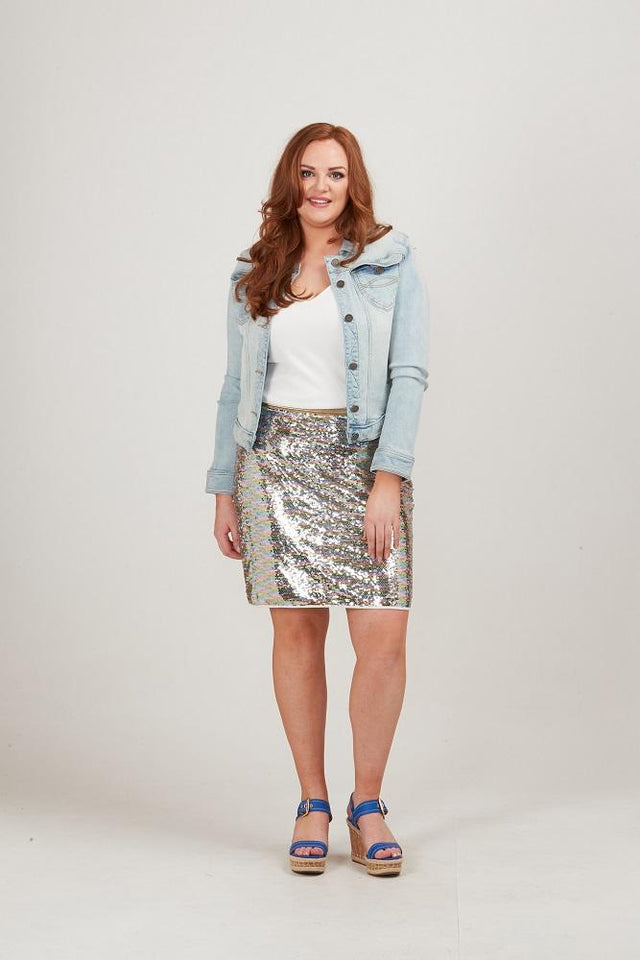 Helena Sequin Skirt