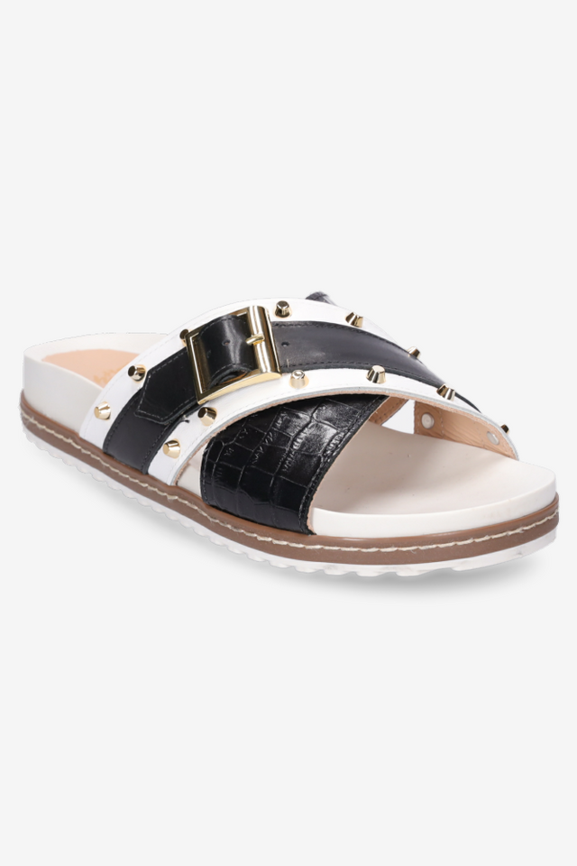 Stella Sandal Black/White