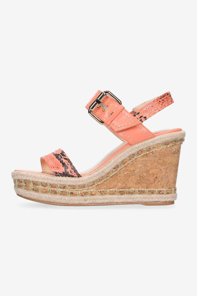 Talia Wedge Peach Snake