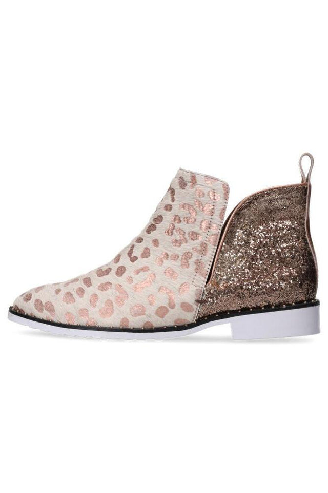 Taylor Boot Rose Gold Leopard