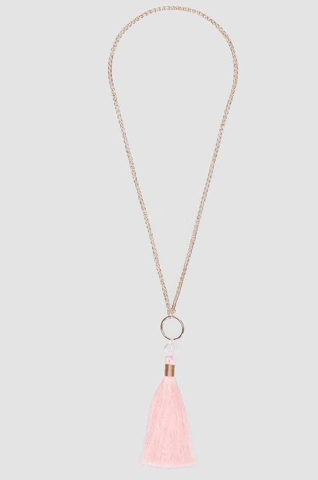 Sparkle Peachy Pink Necklace