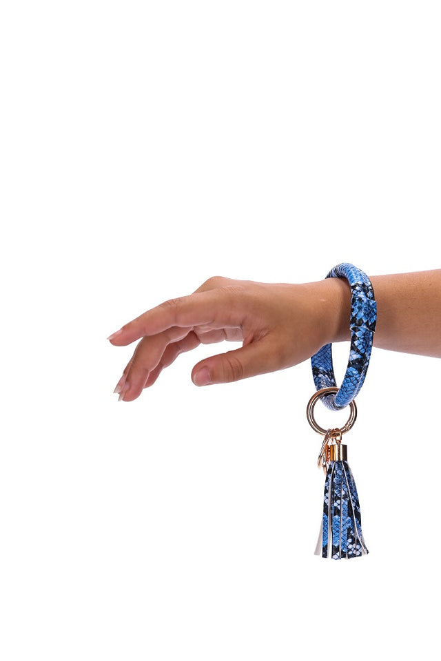 Blue Snake Key Ring