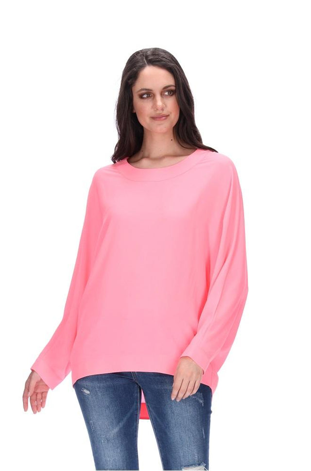 Blues Player Top Fluro Pink