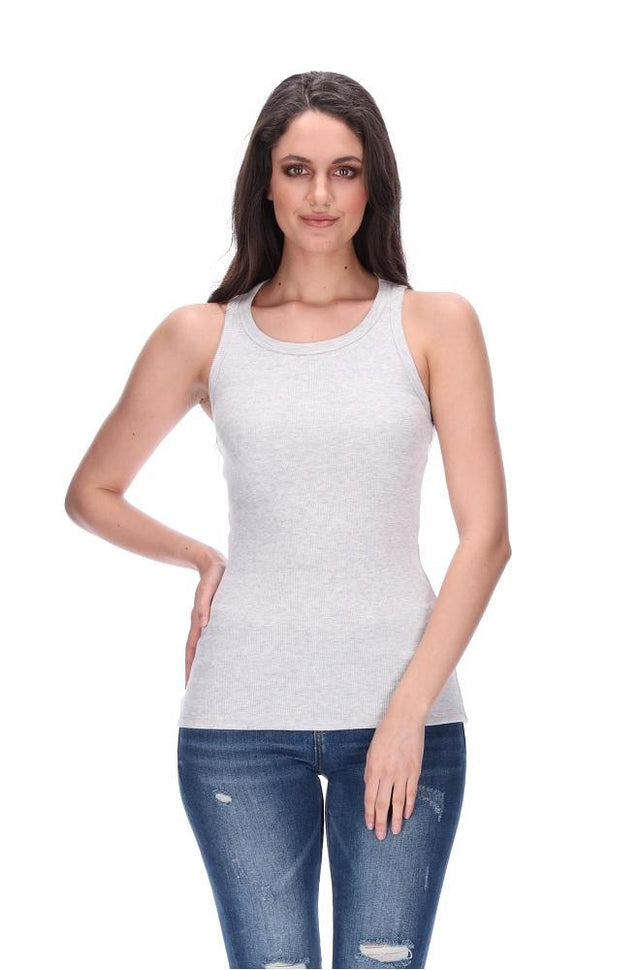 Charise Tank Light Grey Marle