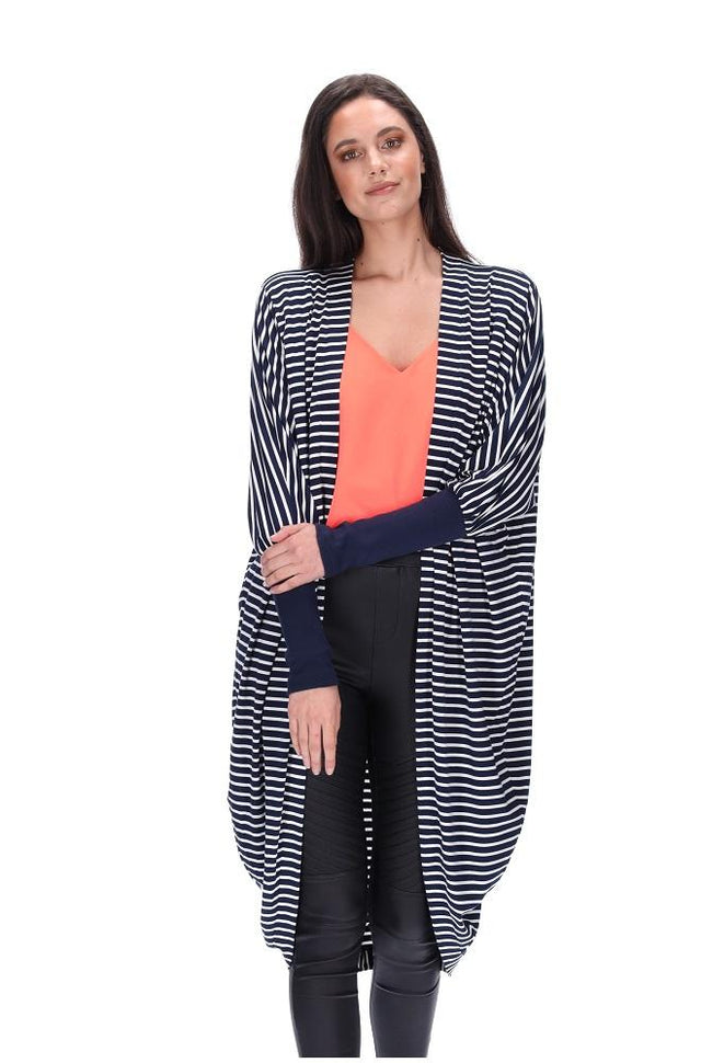 Everylove Cardi Navy/White Long