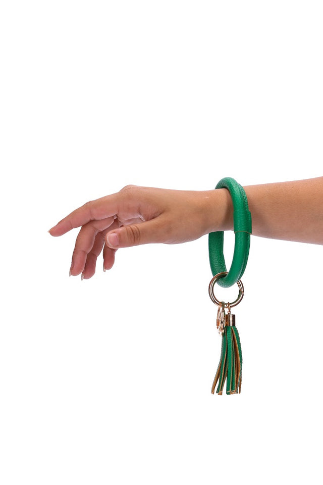 Green Key Ring
