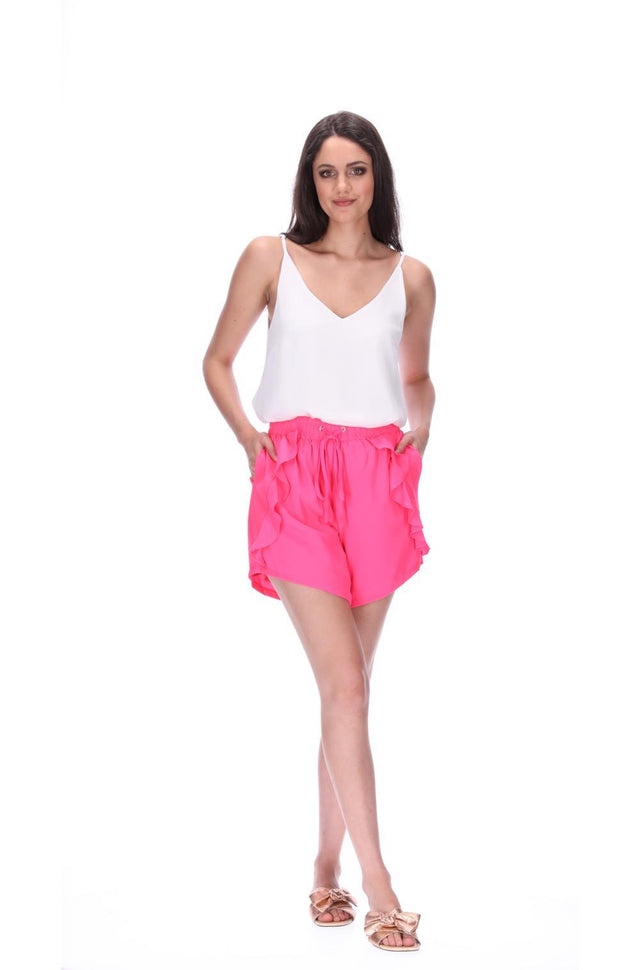 Havie Frill Shorts Pink